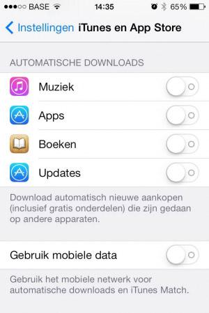 iphone batterij snel leeg itunes appstore