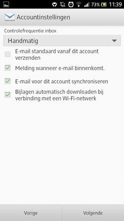 email instellen op android accountinstellingen voorkeuren