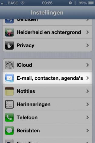 email instellen iphone instellingen